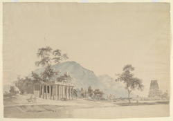 Temple and choultry (a travellers' rest house), Binjaveram. 18 April 1792
